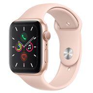 Apple Watch Series 5 GPS, 44 mm, Alumínio Dourado, Pulseira Esportiva Areia Rosa e Fecho Clássico - MWVE2BZ/A