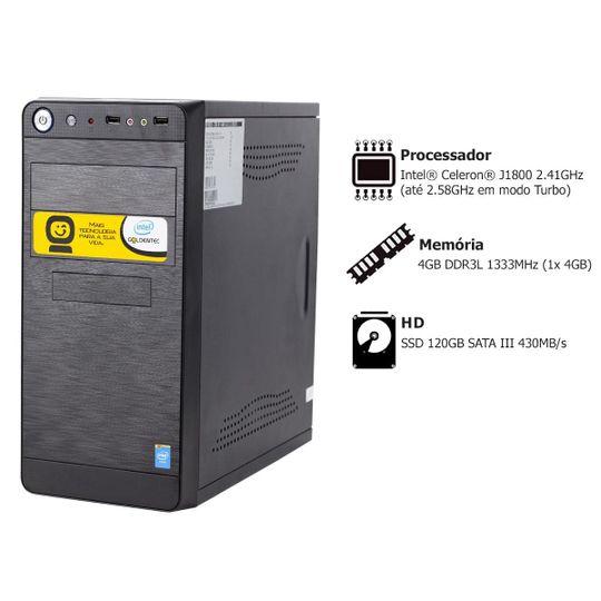 Computador-Goldentec-A-GCL-com-Intel®-Celeron®-Dual-Core-J1800-2.41GHz-4GB-SSD-120GB