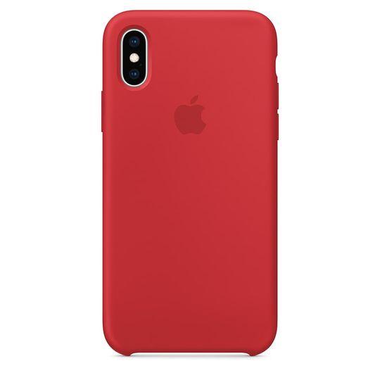 Case-para-iPhone-XS-Apple-MRWC2ZM-A-Silicone---Vermelha