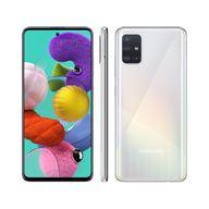 """Smartphone-Samsung-Galaxy-A51-128GB-Branco-4G---4GB-RAM-65""""-Cam.-Quadrupla---Cam.-Selfie-32MP"""