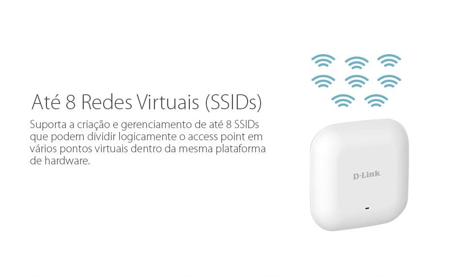 Até 8 redes virtuais SSIDs com o D-Link DAP-2230