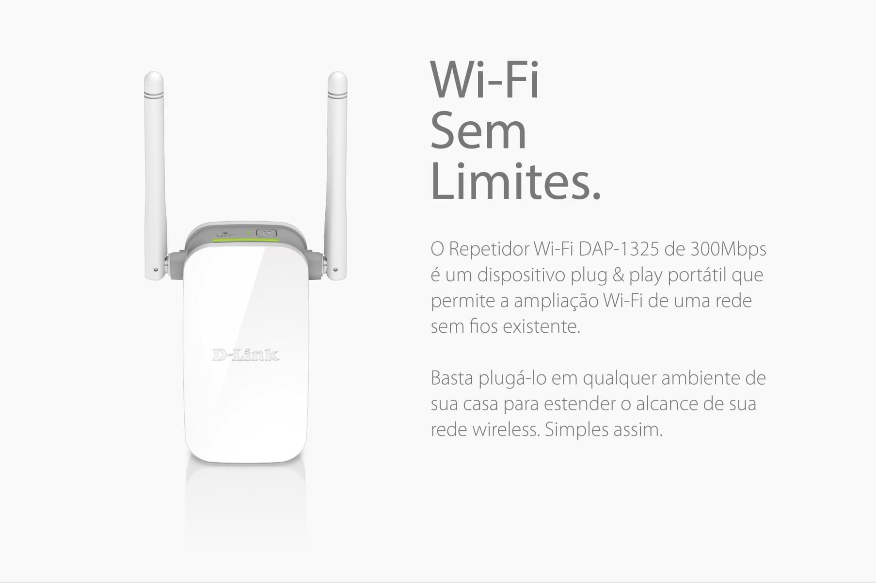 Repetidor WiFi DAP-1325 300Mbps
