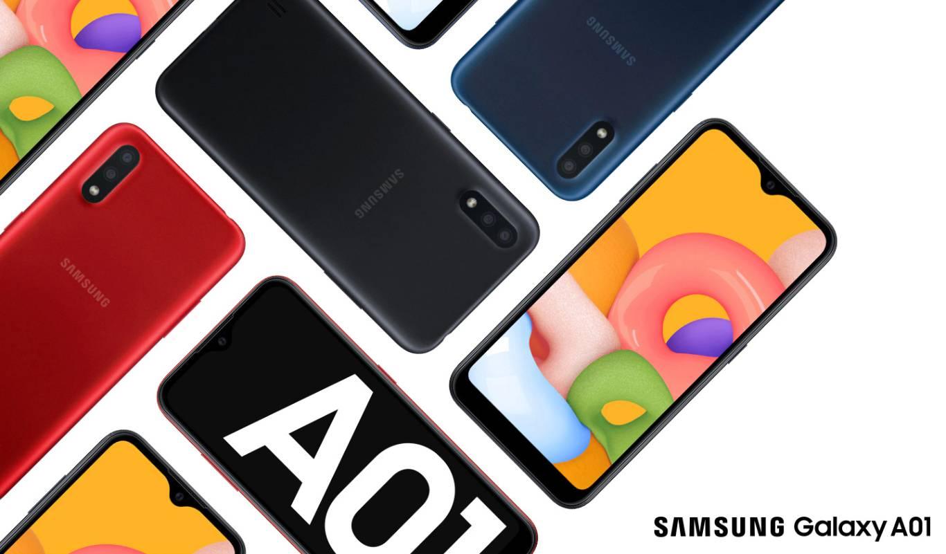 Smartphone Samsung Galaxy A01 32GB Dual  Azul  Câm. Dupla + Câm. Selfie 5MP - SM-A015MZBSZTO
