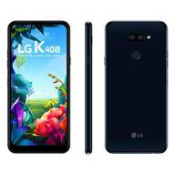 """Smartphone-LG-K40S-Preto-32GB-RAM-de-3GB-Tela-de-61""""-Cam.-Dupla---Cam.-Selfie-13MP"""