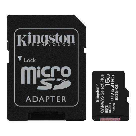 Cartao-De-Memoria-MicroSD-16GB-Kingston--Canvas-Select-Plus---Adaptador-para-SD---SDCS2-16GB-