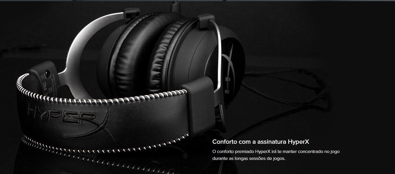 Headset Gamer HyperX CloudX Xbox One  Preto - HX-HS5CX-SR