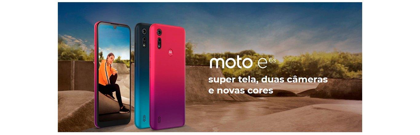 Smartphone Motorola E6S 32GB 2GB RAM Tela Max Vision 6,1