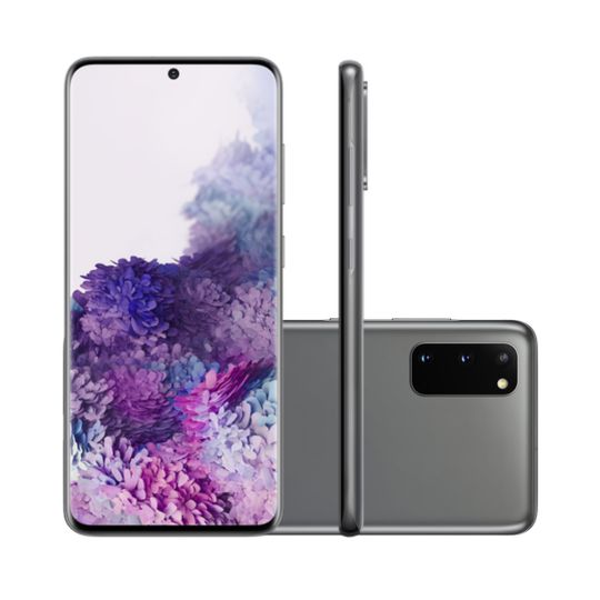 Smartphone-Samsung-Galaxy-S20-128GB-8GB-RAM-Tela-6.2--Camera-Tripla-Traseira-64MP---48MP---12MP-Frontal-de-10MP-Bateria-4000mAh-Cosmic-Gray
