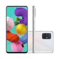 "Smartphone-Samsung-Galaxy-A51-128GB-4GB-RAM-Tela-65""-Camera-Quadrupla-Traseira-48MP---12MP---5MP---5MP-Frontal-de-32MP-Bateria-4000mAh-Branco"