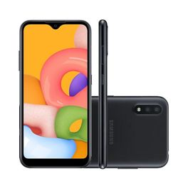 Smartphone-Samsung-Galaxy-A01-32GB-2GB-RAM-Tela-57--Camera-Dupla-Traseira-13MP---2MP-Frontal-de-5MP-Bateria-3000mAh-Preto