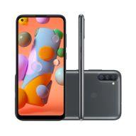 Smartphone-Samsung-Galaxy-A11-64GB-3GB-RAM-Tela-64--Camera-Tripla-Traseira-13MP---2MP---5MP-Frontal-de-8MP-Bateria-4000mAh-Preto