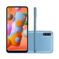 Smartphone-Samsung-Galaxy-A11-64GB-3GB-RAM-Tela-64--Camera-Tripla-Traseira-13MP---2MP---5MP-Frontal-de-8MP-Bateria-4000mAh-Azul