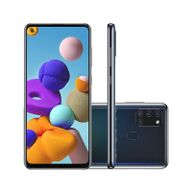Smartphone-Samsung-Galaxy-A21S-64GB-4GB-RAM-Tela-65--Camera-Quadrupla-Traseira-48MP---8MP---2MP---2MP-Frontal-de-13MP-Bateria-5000mAh-Preto