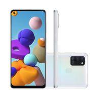 Smartphone-Samsung-Galaxy-A21S-64GB-4GB-RAM-Tela-65--Camera-Quadrupla-Traseira-48MP---8MP---2MP---2MP-Frontal-de-13MP-Bateria-5000mAh-Branco