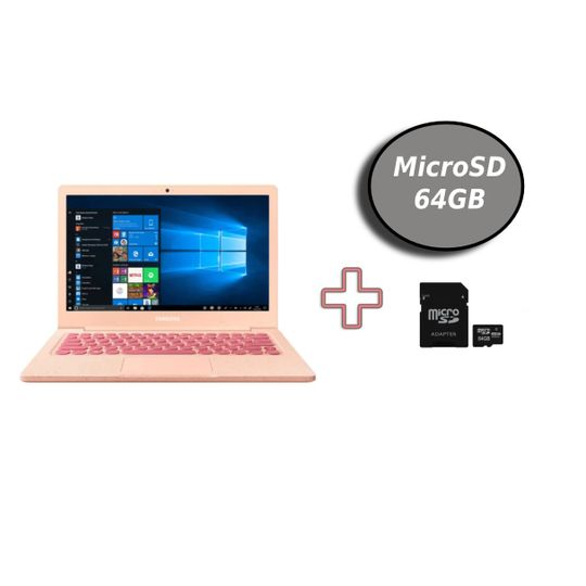 NotebookSamsungFlashF30IntelN40004GBSSD64GBeCartaodeMemoriaMicroSD64GBGoldentecMC222GTNClasse10