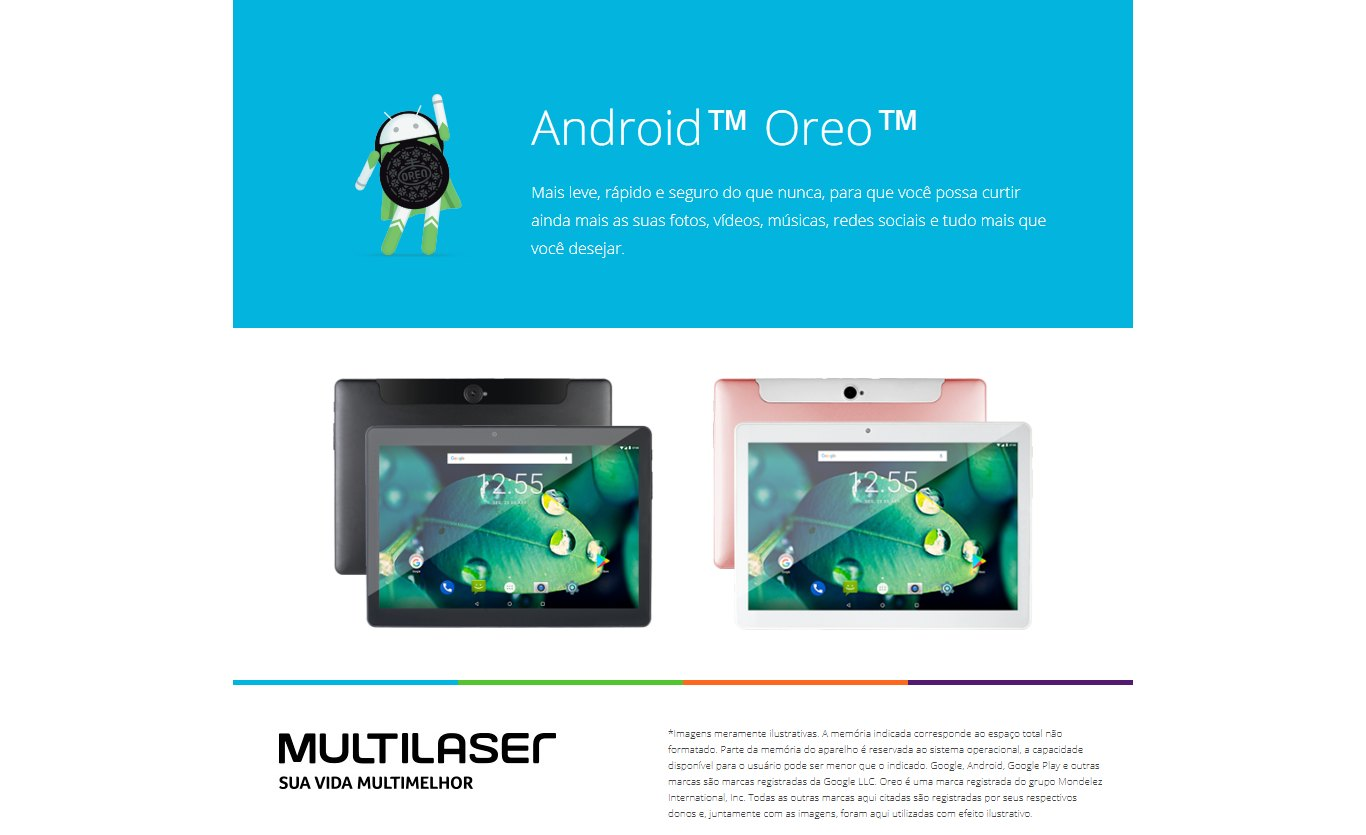 Tablet Multilaser M10 4G 2GB 16GB Tela 10