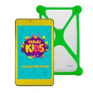 Tablet-DL-Kids-C10-8GB-Tela-de-7--Wi-Fi-Quad-Core-Branco-Amarelo---Capa-de-Silicone-Bumper-Verde