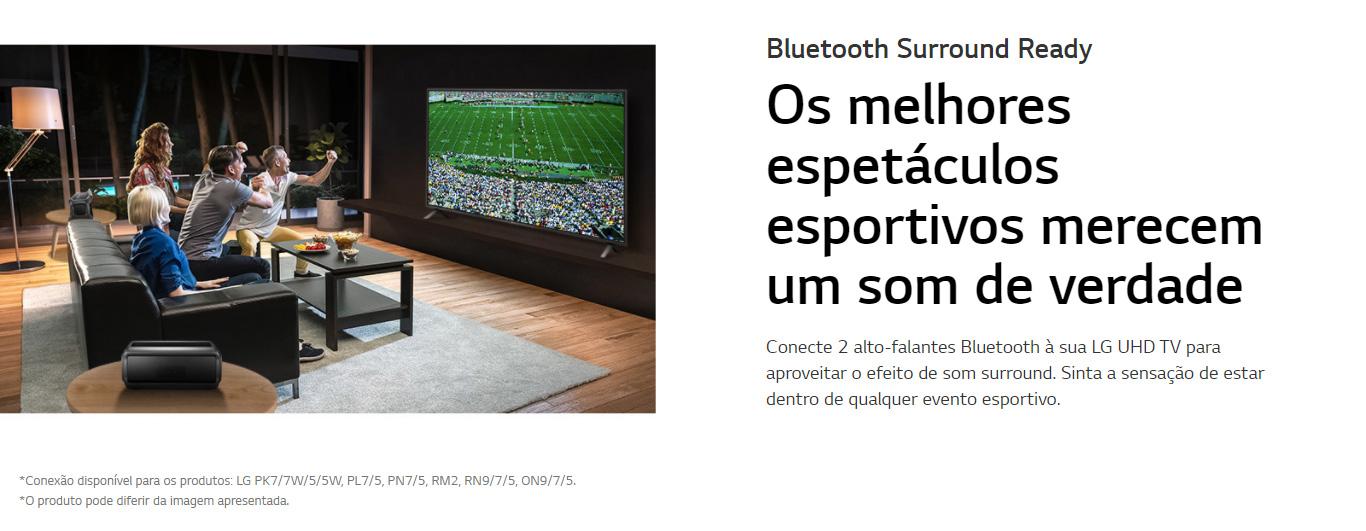 Smart TV LG 70 4K Bluetooth, HDR 10 Pro, Inteligência Artificial ThinQ AI e Smart Magic