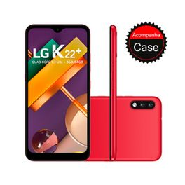 Smartphone-LG-K22--64GB-3GB-RAM-Tela-6.2--Camera-Dupla-Traseira-13MP---2MP-Frontal-5MP--Bateria-de-3000mAh-Red