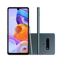 Smartphone-LG-K71-128GB-4GB-RAM-Tela-6.8--Camera-Tripla-Traseira-48MP---5MP---5MP-Frontal-de-32MP-Bateria-de-4000mAh-Titanio