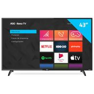"TV-Smart-LED-43""-AOC-Roku-Mobile-Wi-fi---HDMI---USB-43S5195-78"