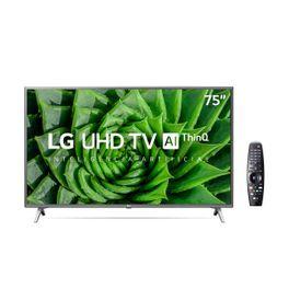 Smart-TV-LED-75--4K-LG--UHD-HDR-ThinQ-AI-Smart-Magic-4-HDMI-2-USB-Wi-Fi-Bluetooth