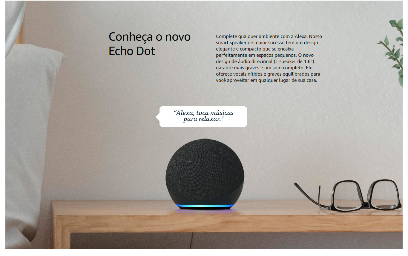 Amazon Echo Dot 4ª Geração Smart Speaker com Alexa - Azul