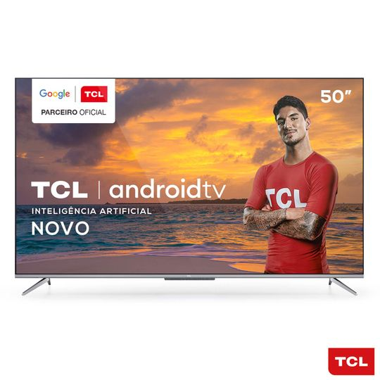 "Smart-TV-4K-UHD-LED-50""-TCL-50P715-Android-Wi-Fi---Bluetooth-3-HDMI-2-USB"