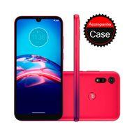 Smartphone-Motorola-E6S-64GB-4GB-RAM-Tela-6.1--Camera-Dupla-Traseira-13MP---2MP--Frontal-de-5MP-Bateria-3000mAh-Vermelho-Magenta