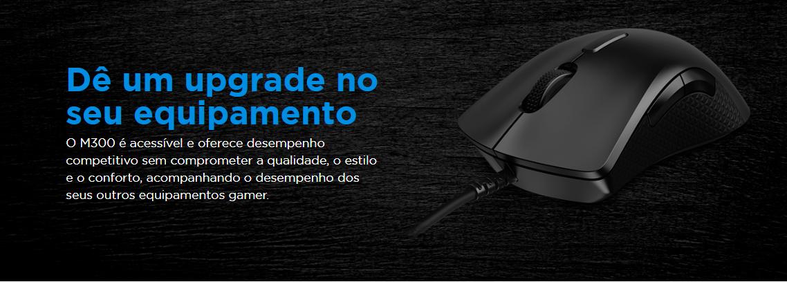 Mouse Gamer Lenovo Legion M300 USB 2.0 RGB 8 Botões 8000DPI, Preto -GY50X79384