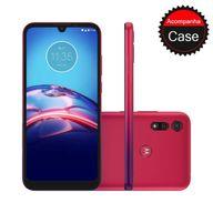 Smartphone-Motorola-E6S-32GB-2GB-RAM-Tela-Max-Vision-61--Camera-Traseira-Dupla-13MP---2MP-Frontal-de-5MP-Bateria-3000mAh-Vermelho-Magenta