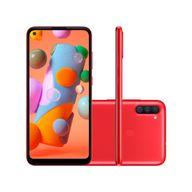 Smartphone-Samsung-Galaxy-A11-64GB-3GB-RAM-Tela-64--Camera-Tripla-Traseira-13MP---2MP---5MP-Frontal-de-8MP-Bateria-4000mAh-Vermelho