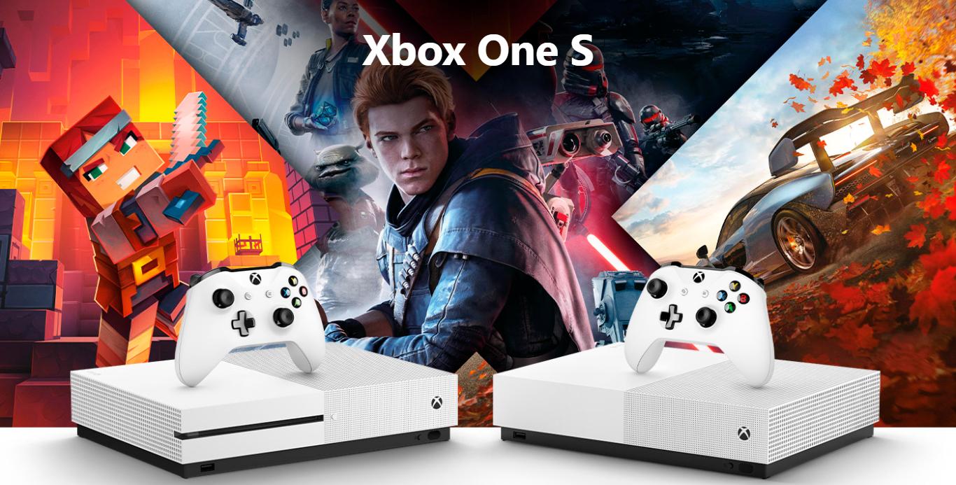 Console Xbox One S 1TB Branco+ 1 Mês Live Gold - 234-00007