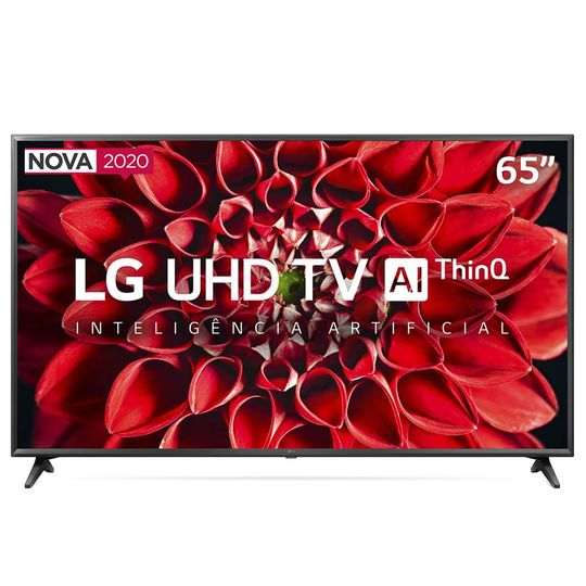 Smart-TV-LED-65--UHD-4K-LG-65UN7100PSA-Wi-Fi-Bluetooth-HDR-Inteligencia-Artificial-ThinQ-AI-Google-Assistente-Alexa---2020