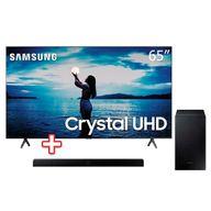 Smart-TV-65--Crystal-UHD-TU7020-4K-2020-Samsung---Soundbar-Samsung-HW-T555-com-2.1-canais-Potencia-de-320W-Bluetooth-Subwoofer-Sem-Fio