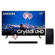 Smart-TV-65--Crystal-UHD-TU8000-4K-Samsung---Soundbar-Samsung-HW-T555-com-2.1-canais-Potencia-de-320W-Bluetooth-Subwoofer-Sem-Fio