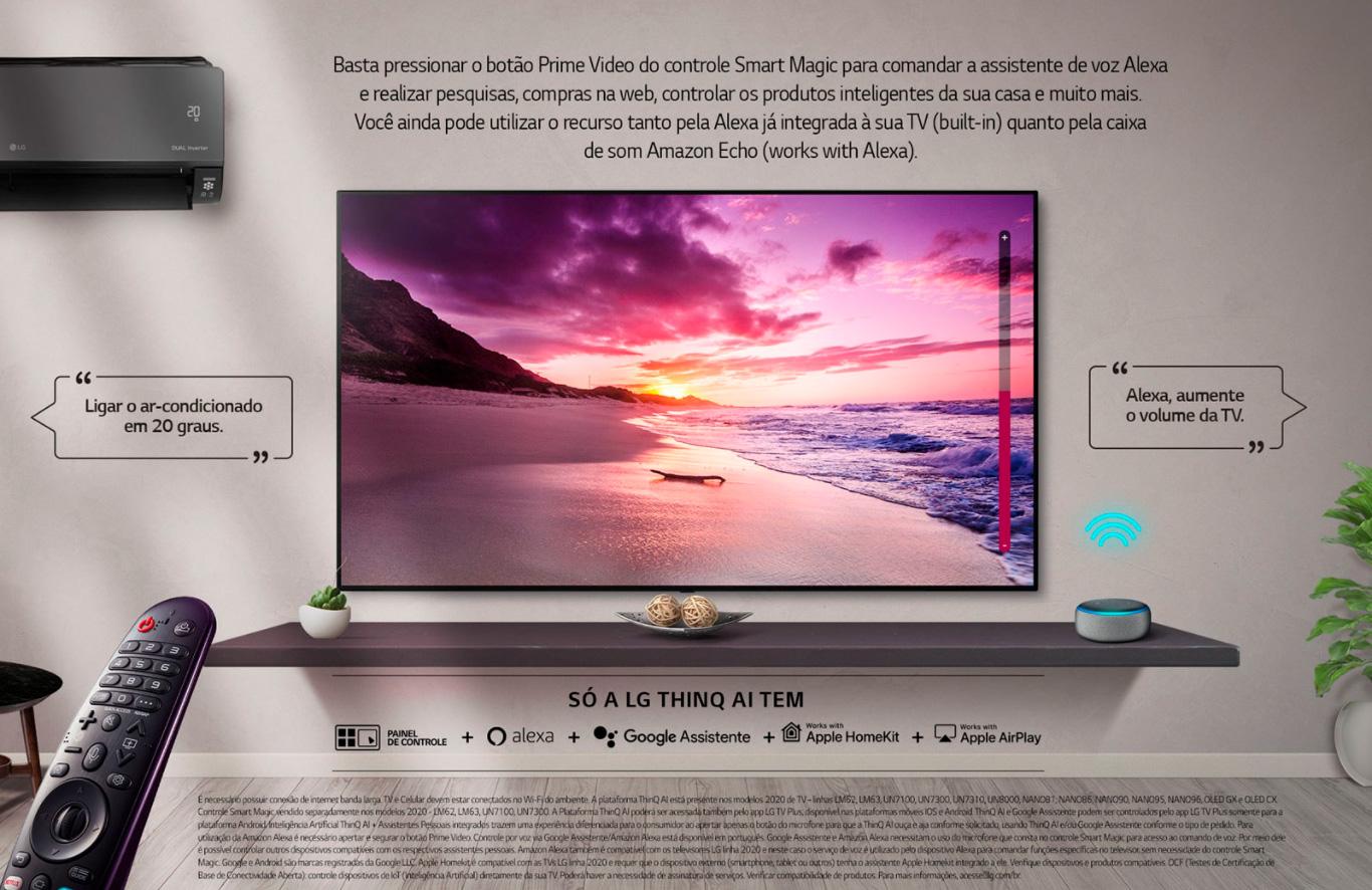Smart TV 50 UHD 4K LG NanoCell ThinQ AI, 3 HDMI, 2 USB - 50NANO79