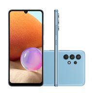 Smartphone-Samsung-A32-LITE-128GB-4GB-RAM-Tela-64--Camera-Quadrupla-Traseira-64MP---8MP---5MP---2MP-Frontal-de-20MP-Bateria-de-5000mAh-Azul