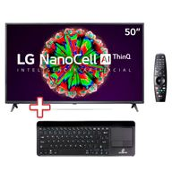 Kit-Smart-TV-50---UHD-4K-LG-NanoCell-ThinQ-AI-3-HDMI-2-USB---50NANO79---Teclado-sem-Fio-com-Touchpad-Premium-Preto-Goldentec
