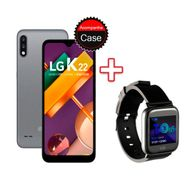 Kit-Smartphone-LG-K22-32GB-2GB-RAM-Tela-6.2--Camera-Dupla-Titan---Smartwatch-Goldentec-Preto