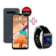 Kit-Smartphone-LG-K41S-32GB-3G-RAM-Tela-655--Camera-Quadrupla-Titanio---Smartwatch-Goldentec-Preto