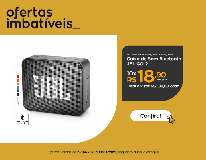 caixas jbl go - Imbatíveis