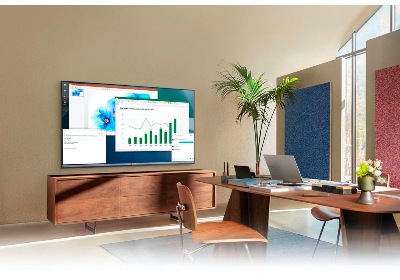Smart TV Samsung 55 Crystal UHD 4K 55AU8000, Painel Dynamic Crystal Color, Design slim, Tela sem limites, Visual Livre de Cabos, Alexa built in, Controle Único