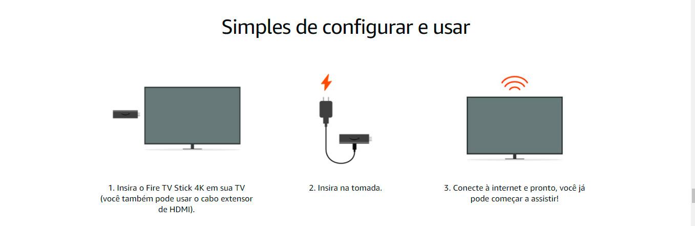 Fire TV Stick 4K com Controle Remoto por Voz com Alexa (inclui comandos de TV)   Dolby Vision