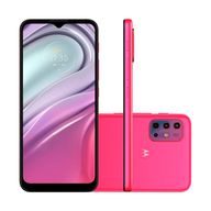 Smartphone-Motorola-G20-64GB-4GB-RAM-Tela-65--Camera-Quadrupla-Traseira-48MP----8MP----2MP---2MP-Frontal-de-13MP-Bateria-de-5000mAh-Pink