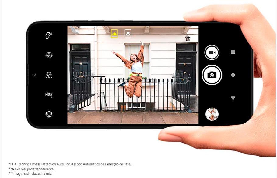 Smartphone LG K22 32GB 2GB RAM Tela 6.2 Câmera Dupla Traseira 13MP + 2MP Frontal 5MP Bateria de 3000mAh Azul