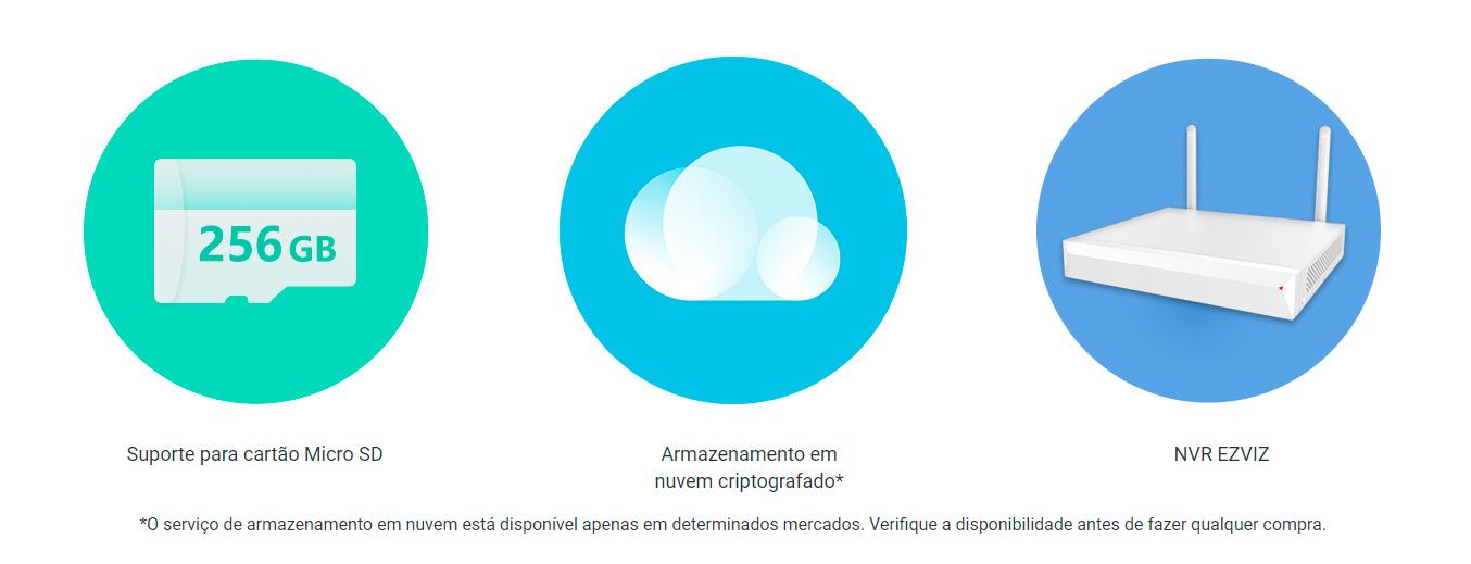 Câmera de Segurança Ezviz IP Wi-Fi Full HD 1080p, com detecção de movimento, Integração Alexa/Google Home - C6N