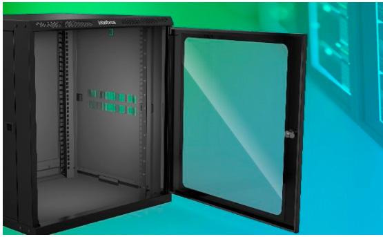 Mini Rack Intelbras 19 Desmontável 12U 570mm - MRD 1257