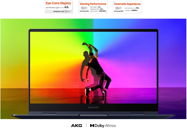 Notebook Samsung Galaxy Book Pro 360 Intel Core i7 16GB 512GB SSD 13 Full HD Windows 10, Mystic Navy - NP930QDB-KS1BR