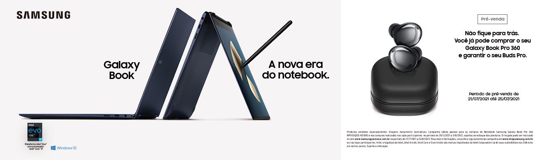 Promoção Samsung Notebook Samsung Galaxy Book Pro 360 Intel Core i7 16GB 512GB SSD 13 Full HD Windows 10, Mystic Navy - NP930QDB-KS1BR